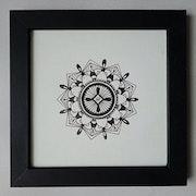 Mandala (le dessin en forme de méditation). Gbge