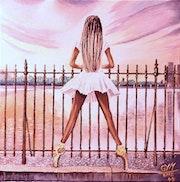 Danseuse à la grille.