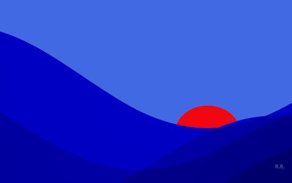 Out-of-the-blue-. R. R. Rolf Raderschatt