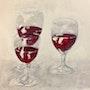 3 Verres de vin rouge. Richard Nichanian