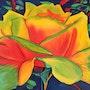 Une Rose dans le Ciel indigo. Aimie Cros