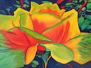 Une Rose dans le Ciel indigo.