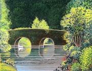 Le pont au moulin de thevalles (Mayenne).