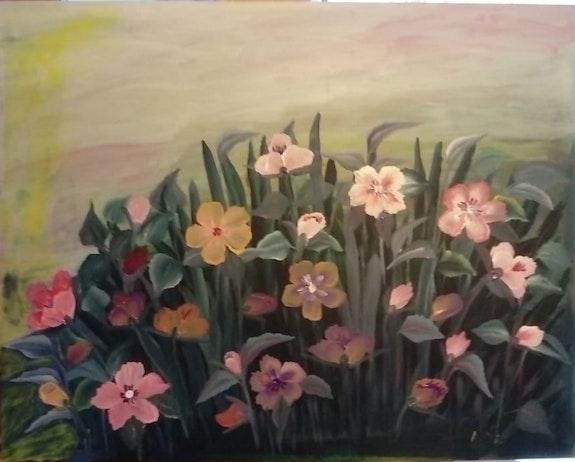 Des fleurs.  Assia Ddarai