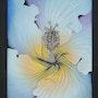 Coeur d'Hibiscus Couleur et Platine - Collection: Triptique. K. Zi. Yak