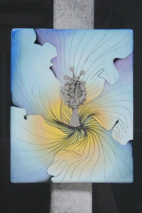 Coeur d'Hibiscus Couleur et Platine - Collection: Triptique. K-Zi-Yak K. Zi. Yak