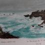 Les rochers de St Guénolé avec une mer plus agitée. Catherine Souet-Bottiau