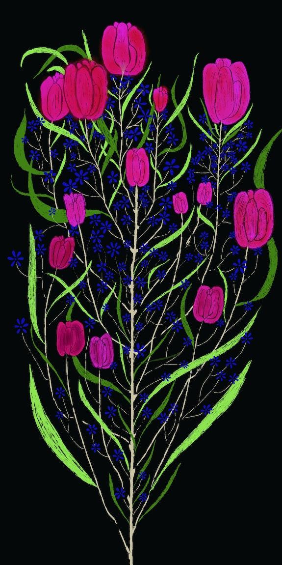 Blissful Flowers. Sana Shaikh Bliss N Scape Art