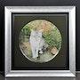 Chat délicat blanche tigrée yeux verts. K. Zi. Yak