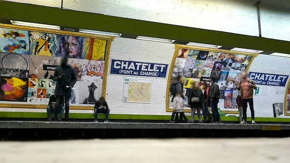 Expo-Métro Paris Châtelet - Vue sur quai 6 - Photo Officielle.  Artquid Team