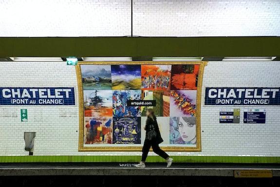Vue quai Affiche 3 - Photo d'Art Officielle Expo-Métro Paris Châtelet.  Artquid Team