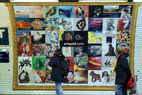 Expo-Métro Paris Châtelet - Vue quai Affiche 8 - Photo Officielle.  Artquid Team