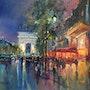 Ombres et lumières les Champs Elysées. R Ricart