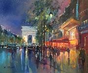 Ombres et lumières les Champs Elysées.