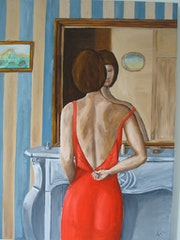 La robe rouge.