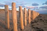 Sur une plage de Normandie.