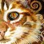 Chat Klimt - Aquarelle & Art Numérique. Tinarebou