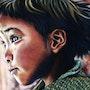 Enfant du Zanskar - Pastel & Art Numérique - Digigraphie en Edition Limitée. Tinarebou