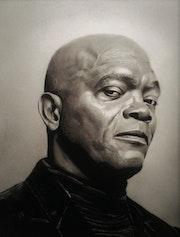 Retrato samuel L. Jackson.