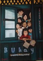 Buhay vergesene straßenkinder aus tondo.
