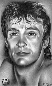 Autoportrait réalisé en 1990.