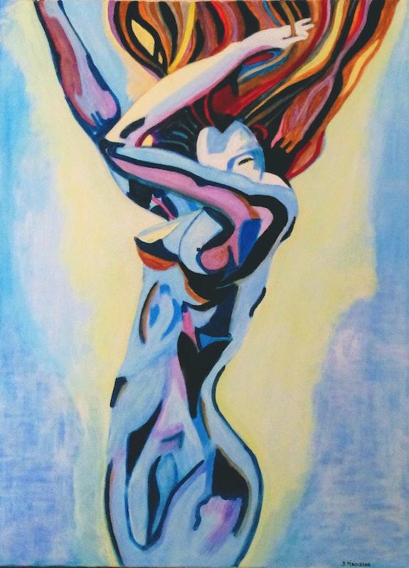 La danseuse nue dans le vent. Brigitte Perocheau Brigitte Perocheau