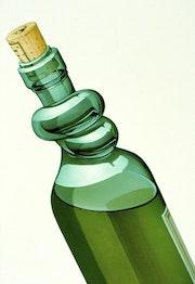 Kein Alkohol im Verkehr. Illustration & Illusion