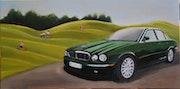 Jaguar xk8 au golf. Cesar Luciano