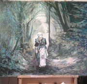 Mamy dans la forêt. 1948