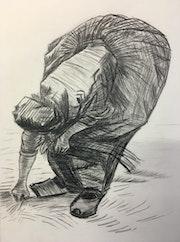 Glaneuse d'après Vincent Van Gogh. Didier Mazoué