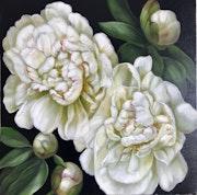 White Peonies. Anna Reznikova