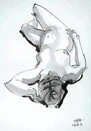 Female Nude Akt # 3582 (1993). Hajo Horstmann