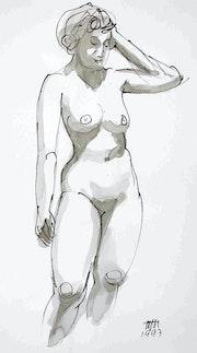 Female Nude Akt # 3580 (1993). Hajo Horstmann