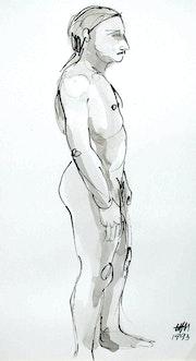 Male Nude Akt # 3450 (1993). Hajo Horstmann