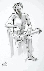 Male Nude Akt # 3556 (1993). Hajo Horstmann