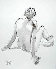 Male Nude Akt # 3491 (1993). Hajo Horstmann
