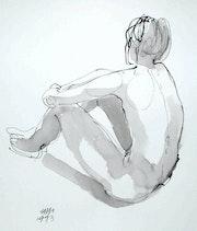 Male Nude Akt # 3485 (1993). Hajo Horstmann