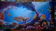 La vie sous marine en couleur. Sandrine Lamotte