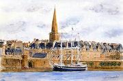 St Malo et le Belem. Sylvie-Gourmelon