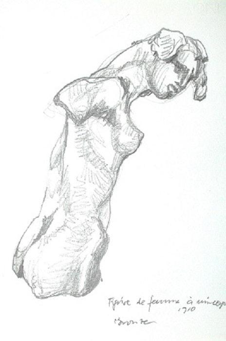 Musée Rodin, Paris. Figure de femme (1997). Hajo Horstmann Hajo Horstmann