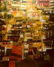 A favela a noite.