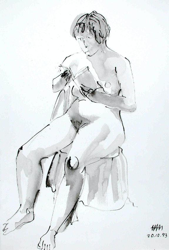 Lesende, Ansicht # 5, (1993). Hajo Horstmann Hajo Horstmann