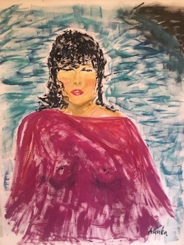 Dreaming lady. Val Hribar