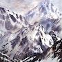 Montagnes de brumes. Anne Huet Baron