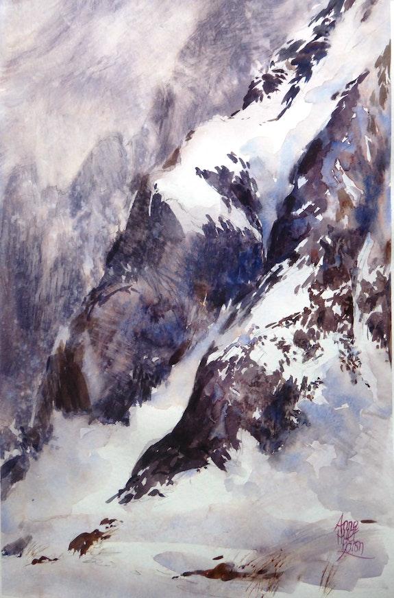 Vertige de neige. Anne Huet -Baron Anne Huet Baron