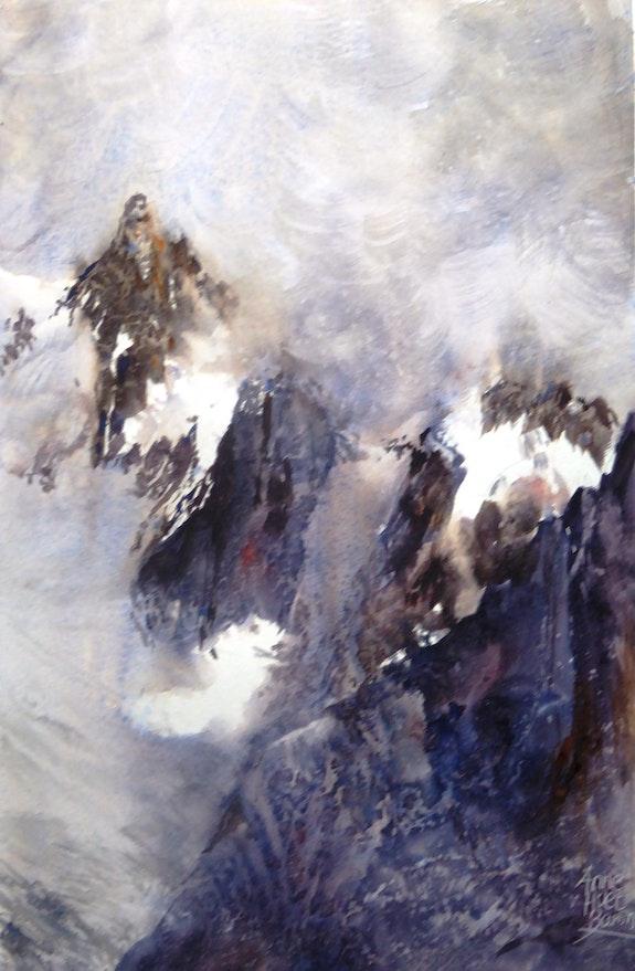 Les roches froides. Anne Huet -Baron Anne Huet Baron