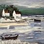 Mer en Bretagne. Colette Trôme