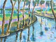 Un bord de rivière. Jean-Claude Robin