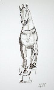 Venedig, Pferd 4 von San Marco (1986). Hajo Horstmann