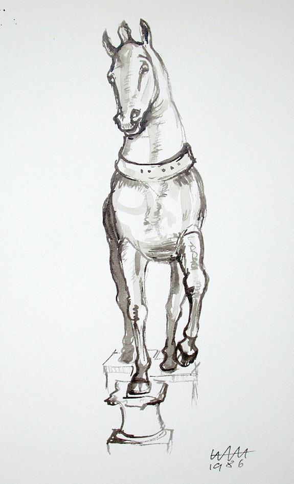 Venedig, Pferd 4 von San Marco (1986). Hajo Horstmann Hajo Horstmann